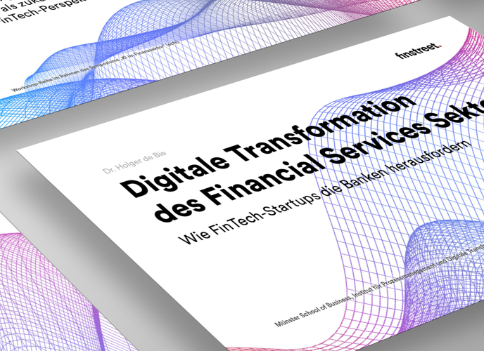 PowerPoint Folie: Digitale Transformation des Financial Service Sektors