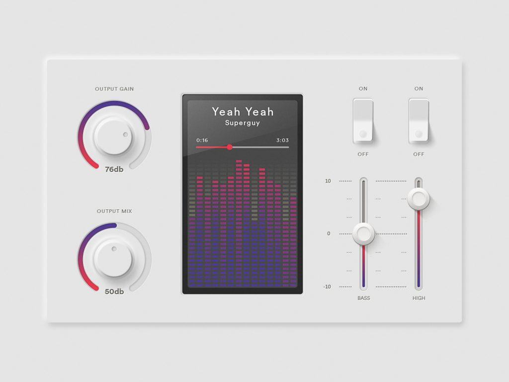 Sound Interface Design unter Verwendung von Neumorphismus bzw. Skeomorphismus