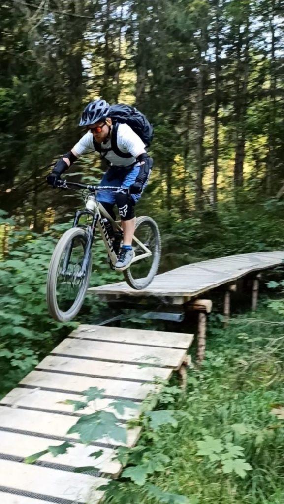Jan Schütz beim Mountain Biking