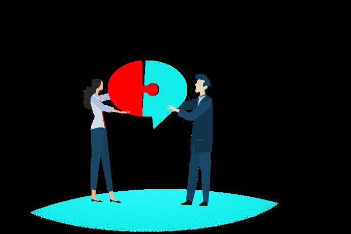 Kundin und Berater finden im Gespräch zusammen