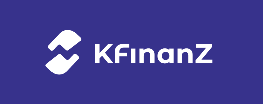 KFinanZ Logo auf dunkelblauem Grund