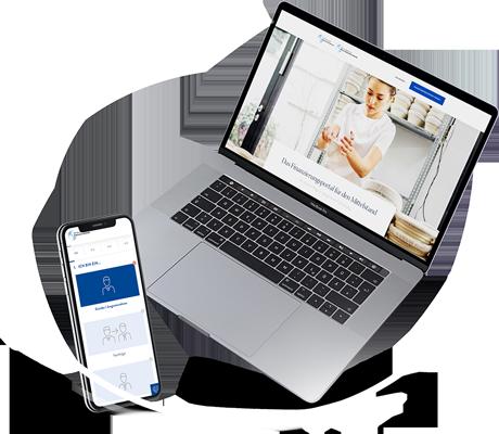 Finanzierungsportal der Bürgschaftsbanken mobile und auf Desktop
