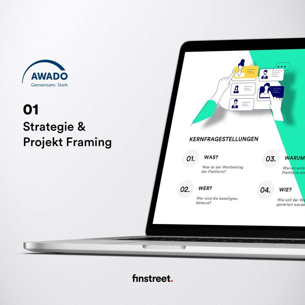 AWADO Plattform Best Practice Beispiel - Strategie und Projekt Planung
