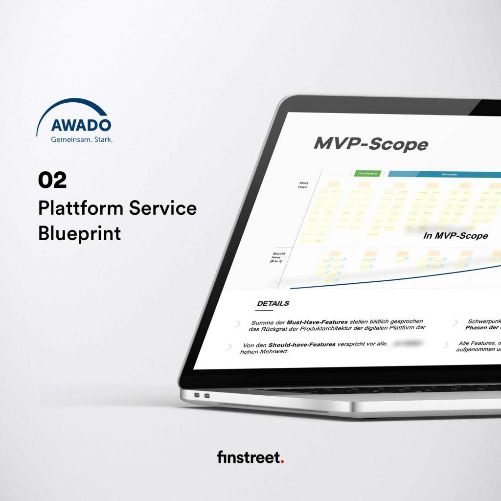 AWADO Plattform Best Practice Beispiel - Plattform Service Blueprint