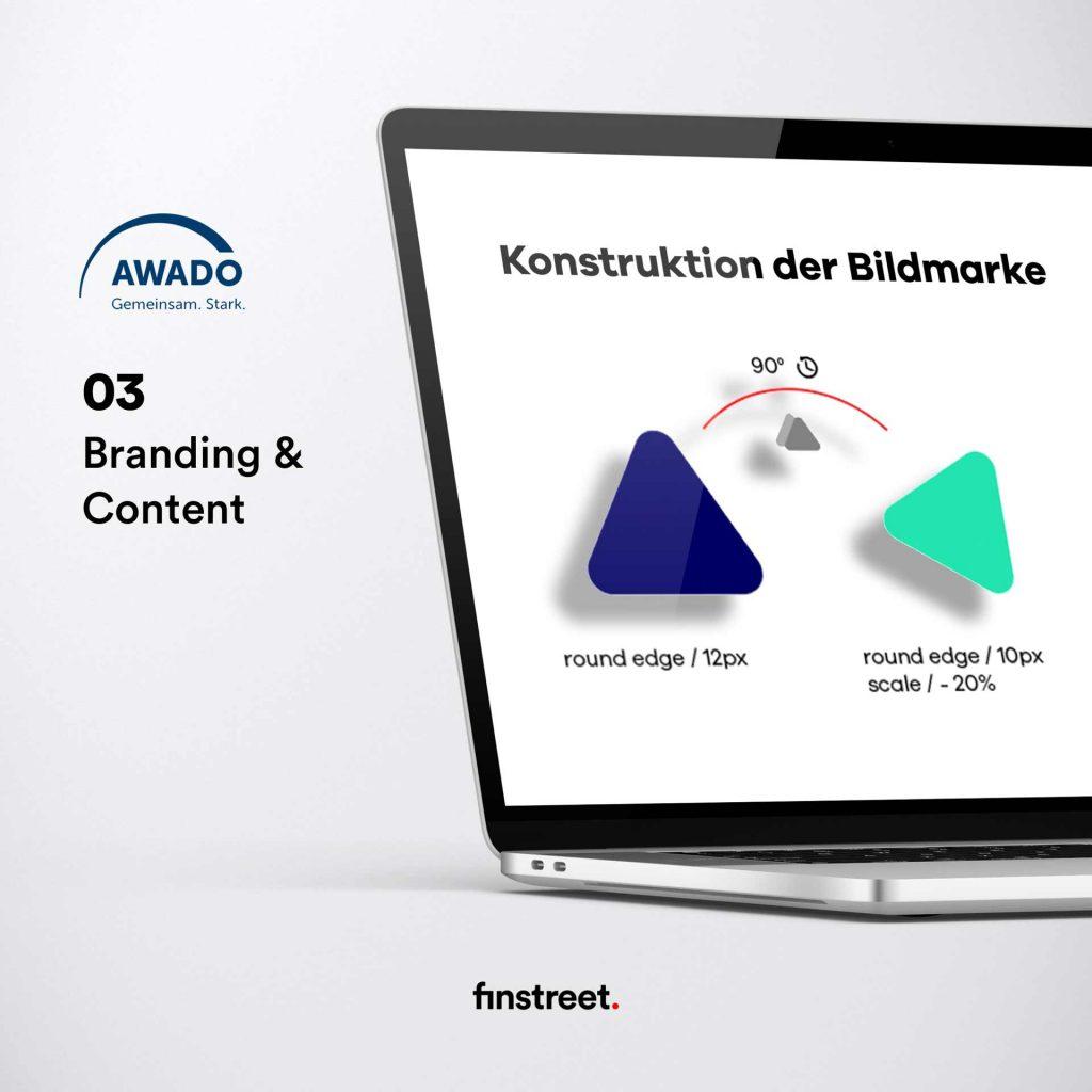AWADO Plattform Best Practice Beispiel - Branding und Content