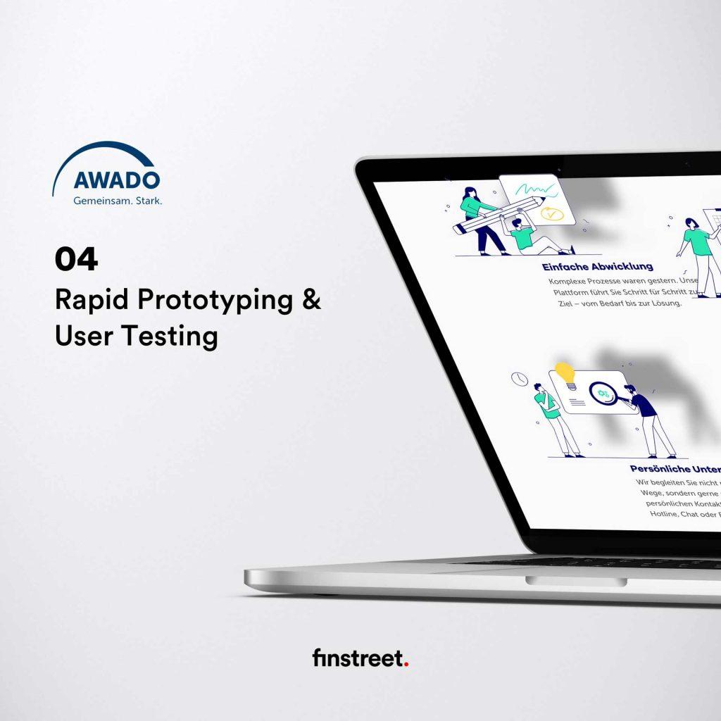 AWADO Plattform Best Practice Beispiel - Rapid Prototyping und User Testing