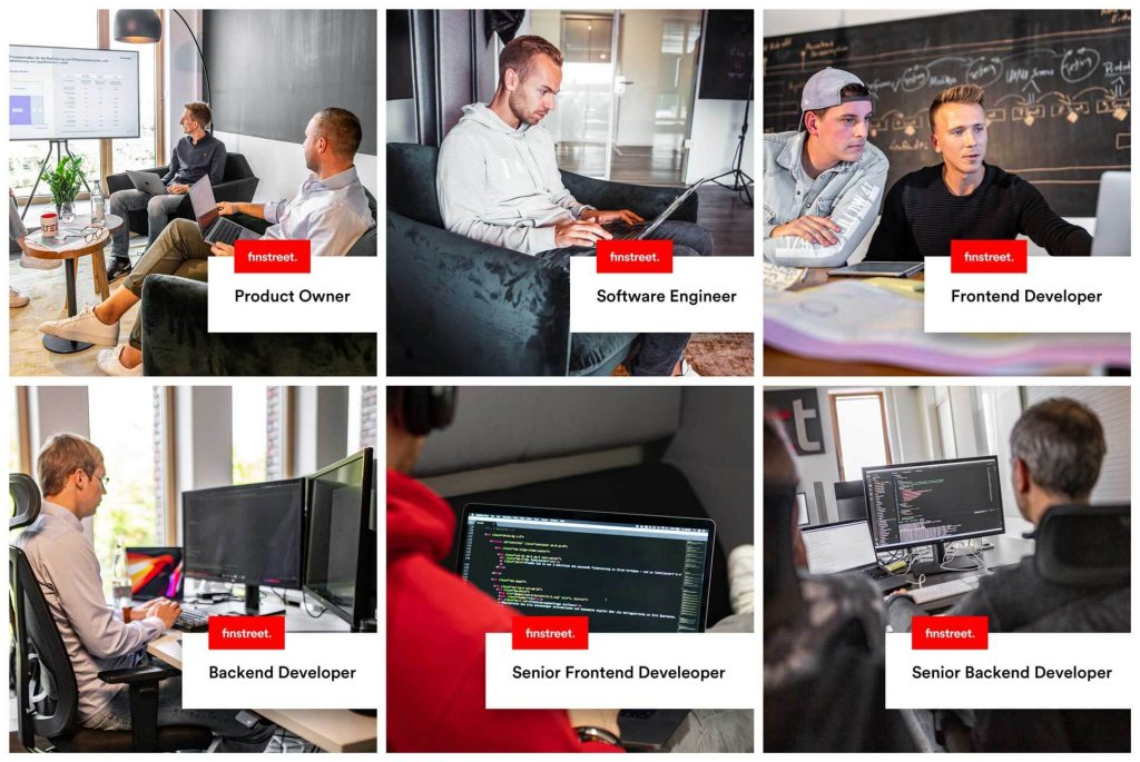 Product Owner, Software Engineer, Frontend und Backend Developer, Senior Frontend und Backend Developer