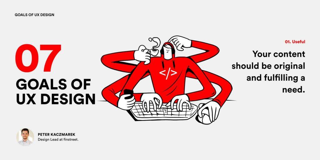 7 Ziele im UX Design - Useful