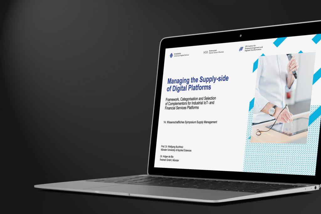 Präsentation mit Titel Managing the Supply Side of Digital Platforms